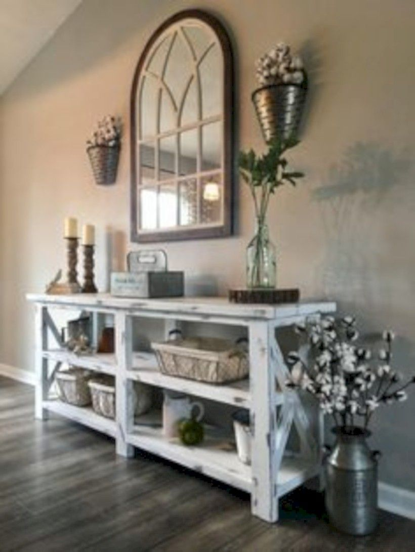 unique diy rustic farmhouse decoration for wall living room ideas also arch mirrors with hanging planters modern farm house rh pinterest