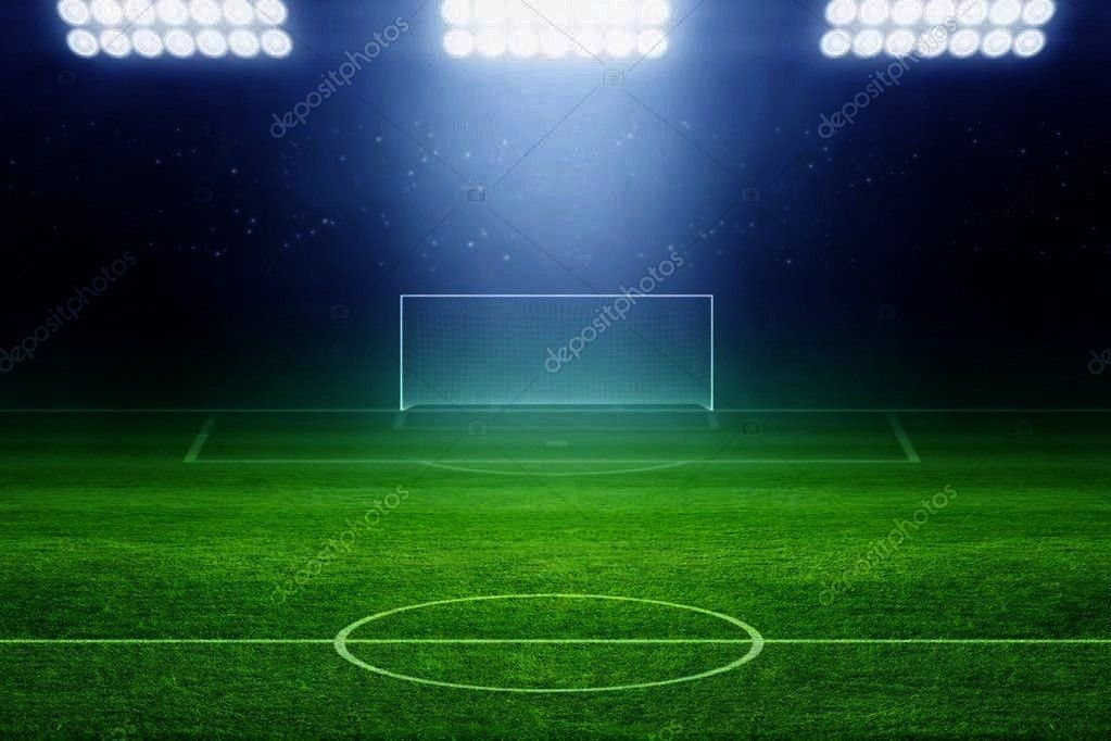 Photo ,Soccer stadium - Stock Photo ,  6328 Soccer Stadium Field Backdrop  Christmas card with neon