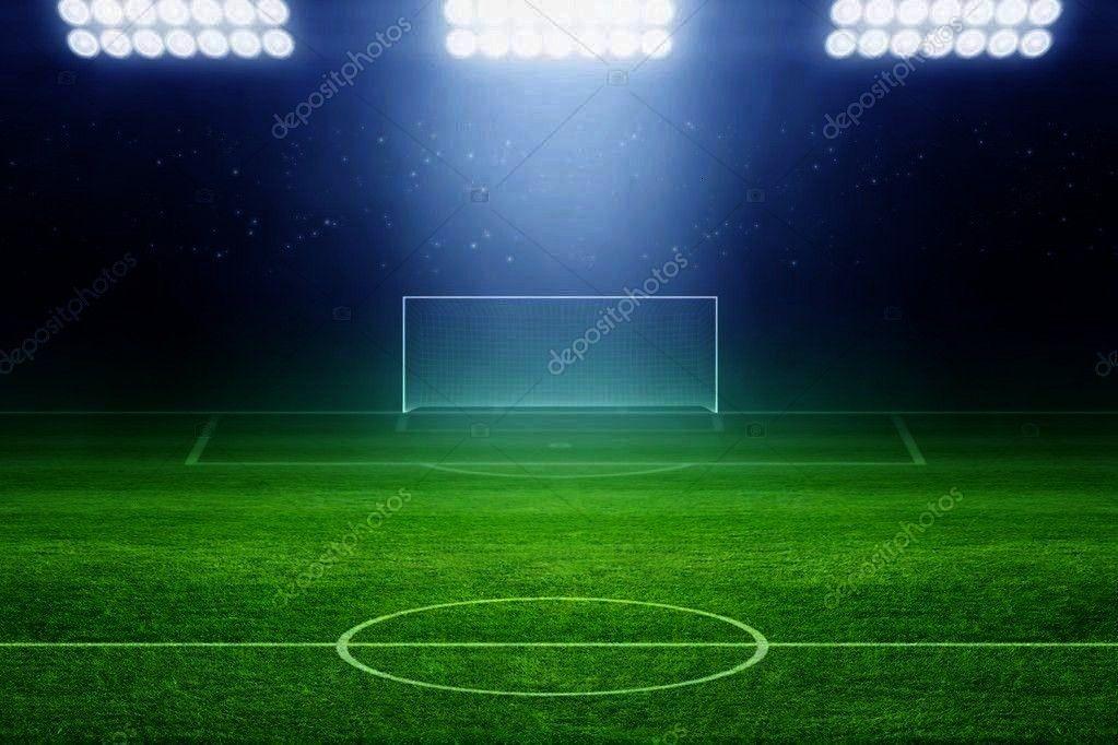 Photo ,Soccer stadium - Stock Photo , 6328 Soccer Stadium Field Backdrop Christmas card with neon