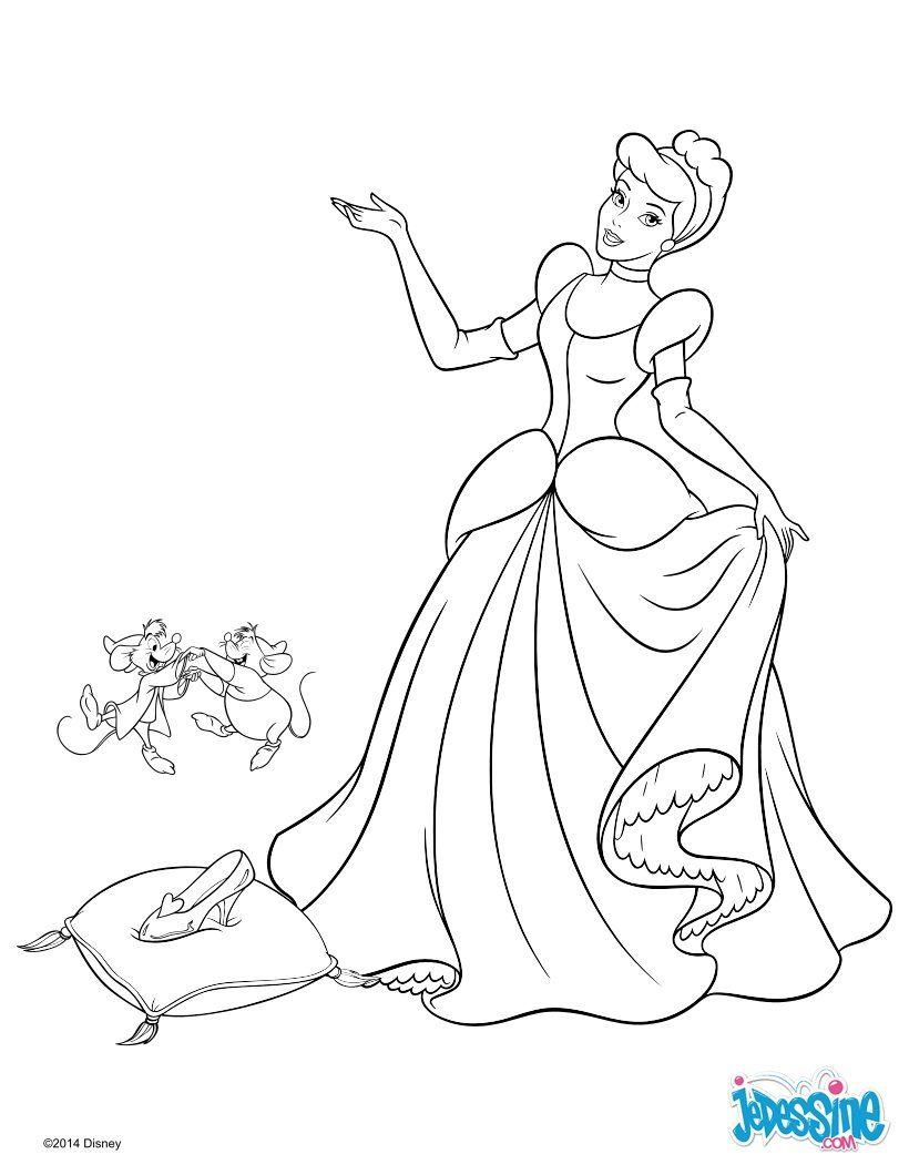 coloriage cendrillon activite princesses disney 6