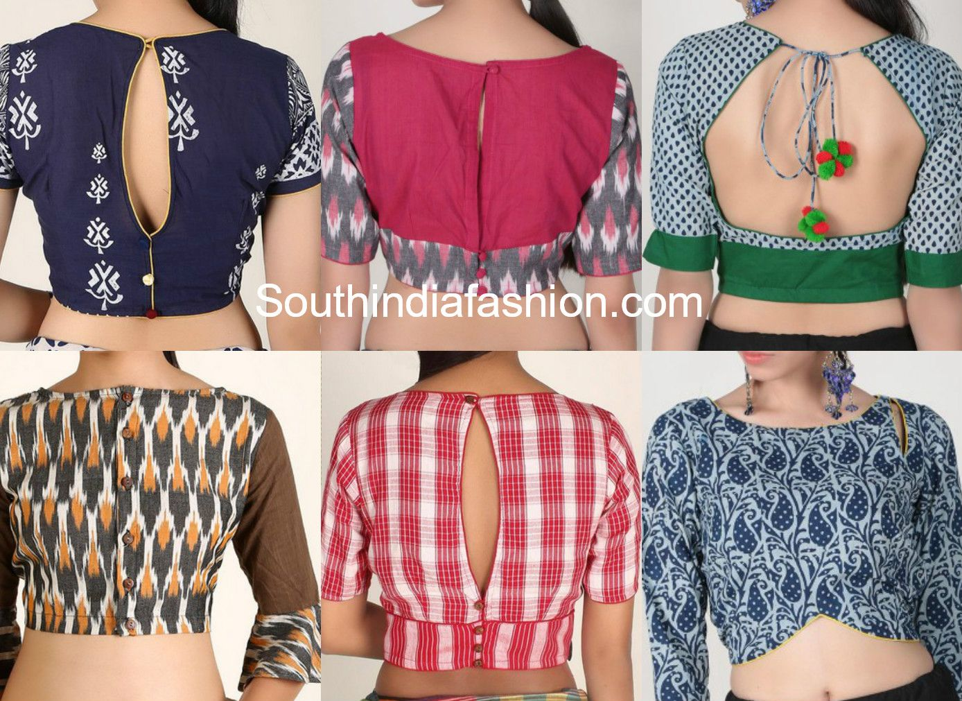 5bfeab54c374d Latest and stylish cotton saree blouse designs to try out this summer. The  current trend is to wear unique stylish designer blouses with simple  regular ...