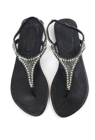 6fe6afa0177b Diamante T-Bar Sandals - Black by Natasha