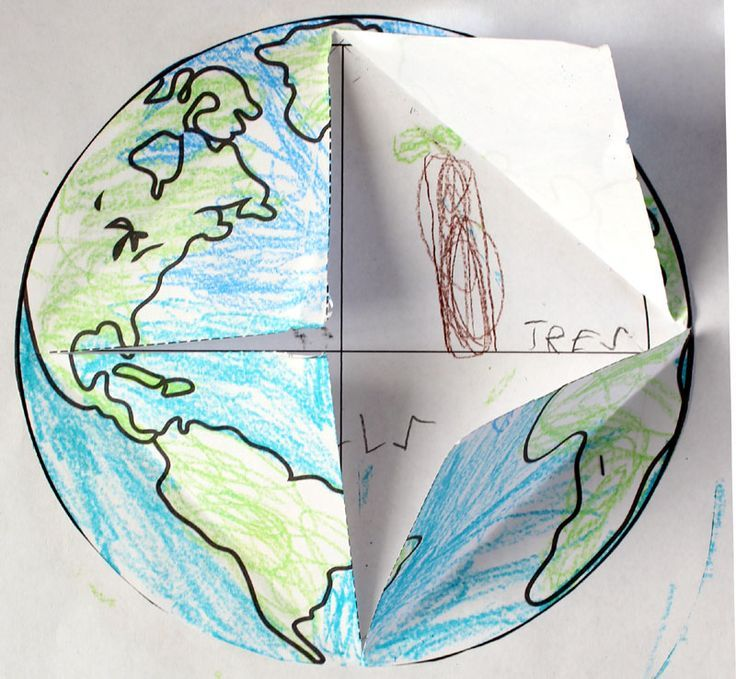 Earth LifttheFlap Printable Template FREEBIE Classroom