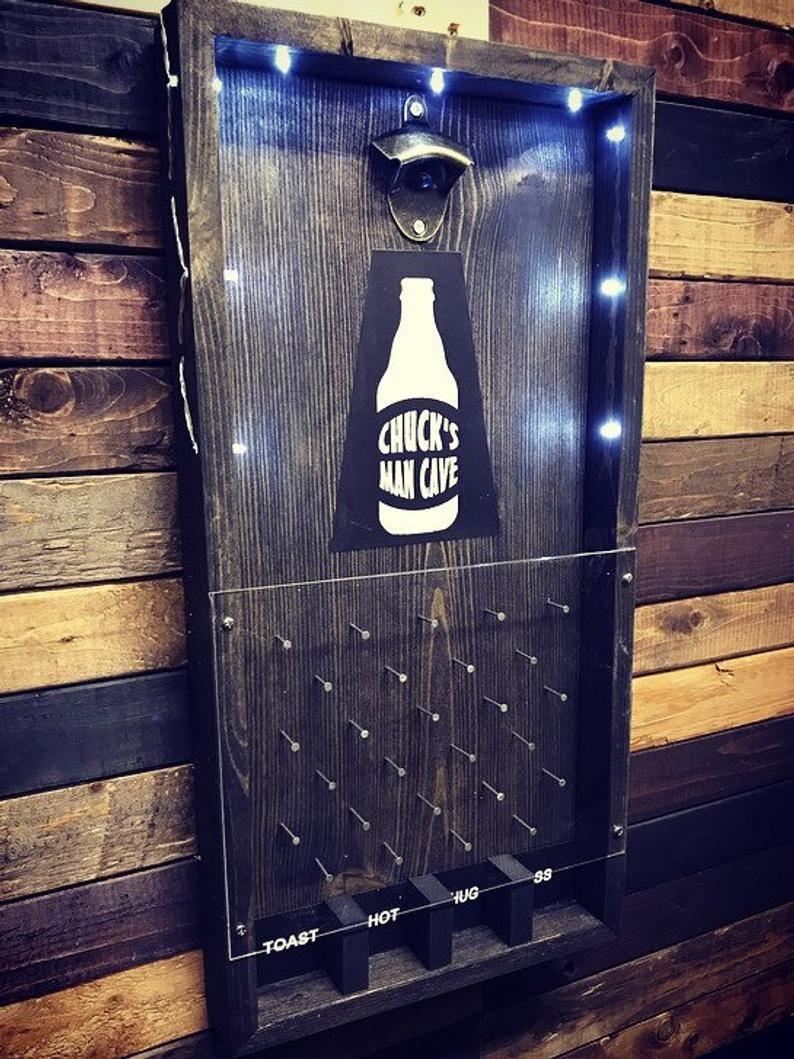 Personalized, Man cave, custom plinko bottle opener , drinking game. Free shipping