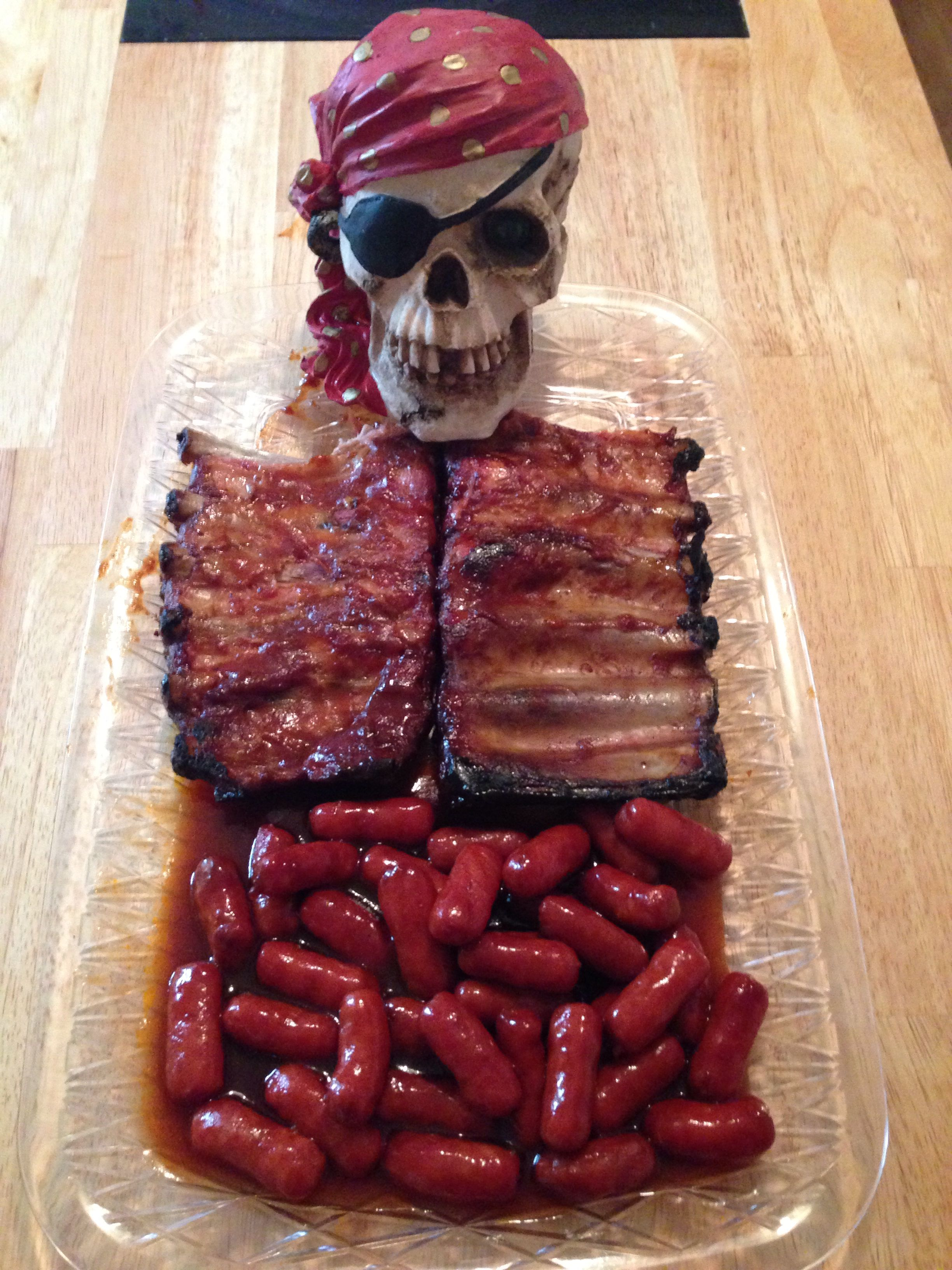 Skeleton Rib And Guts Halloween Main Course Did It