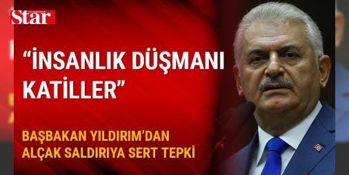 Başbakan Yıldırım: İnsanlık düşmanı katilleri lanetliyorum : Başbakan Binali Yıldırım Dün akşam İstanbul Beşiktaşta insanlığa hayata huzura masumiyete düşman olduğunu karanlık ve kalleş yüzünü bir kez daha göstererek bomba patlatan insanlık düşmanı katilleri şiddetle lanetliyorum dedi.  http://www.haberdex.com/turkiye/Basbakan-Yildirim-Insanlik-dusmani-katilleri-lanetliyorum/119770?kaynak=feed #Türkiye   #katilleri #Başbakan #düşmanı #yüzünü #kalleş