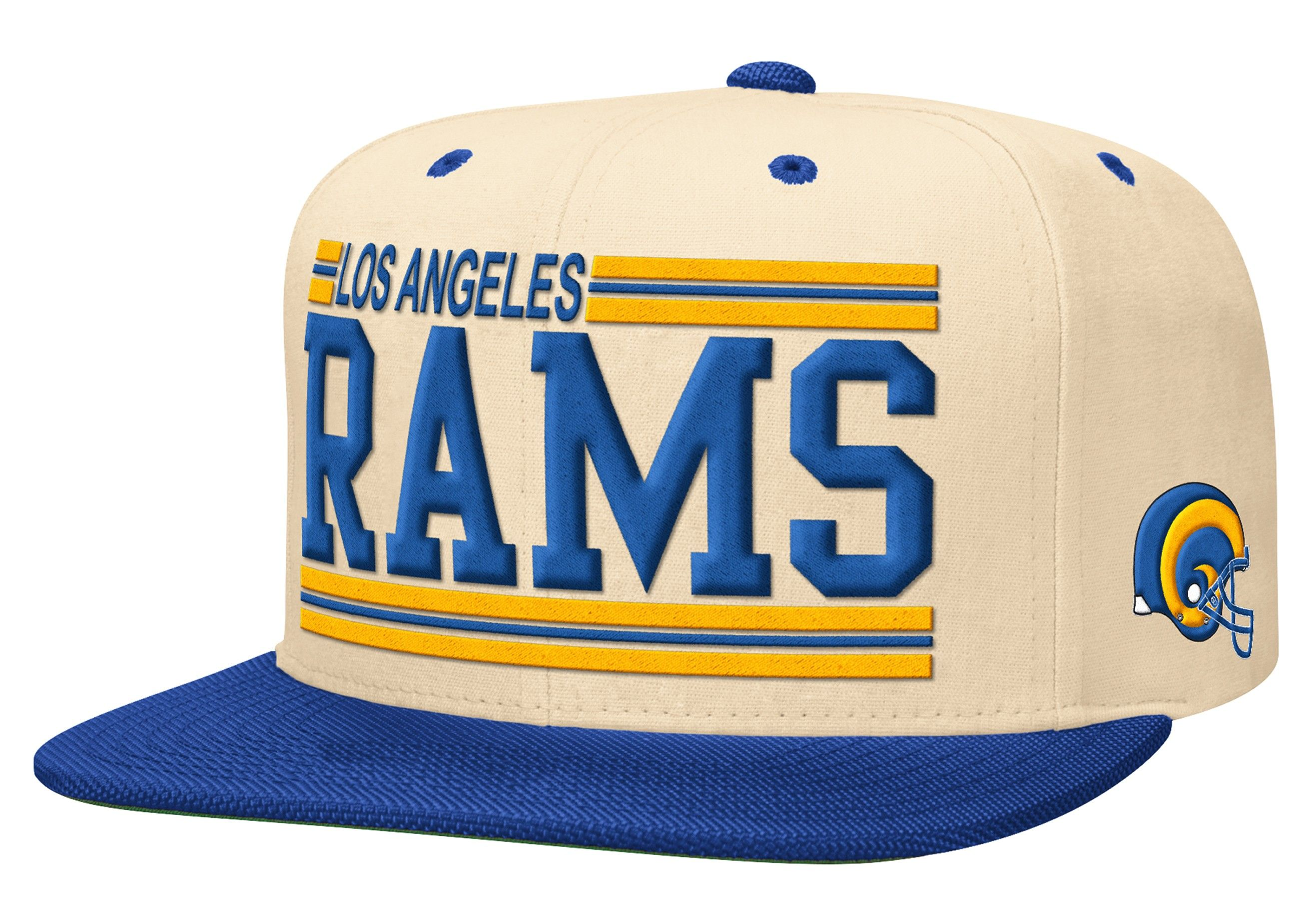 more photos f0f2a b82a4 Block Cream Snapback Los Angeles Rams | Mitchell & Ness ...