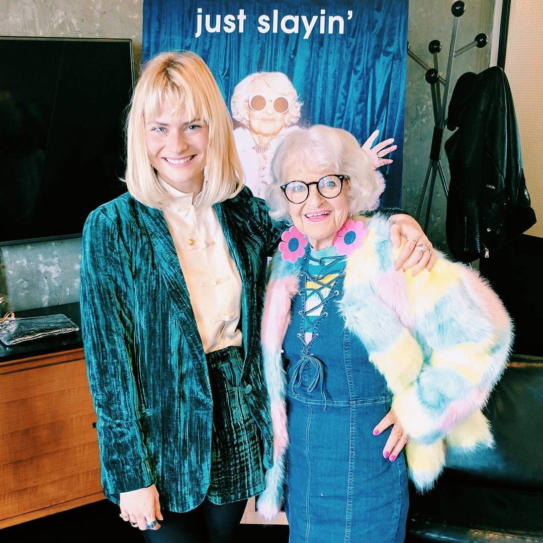 Our @pandorasykes with Instagram's most powerful octogenarian @baddiewinkle