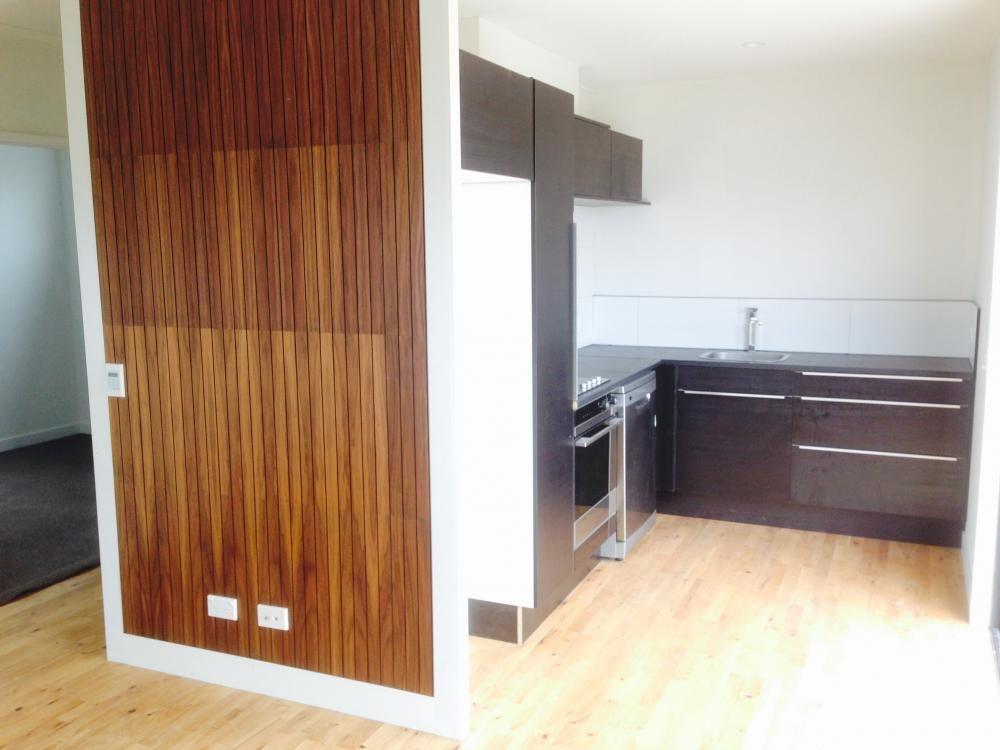 Ikea kitchen, haro flooring, buildme, building nz, feature wall