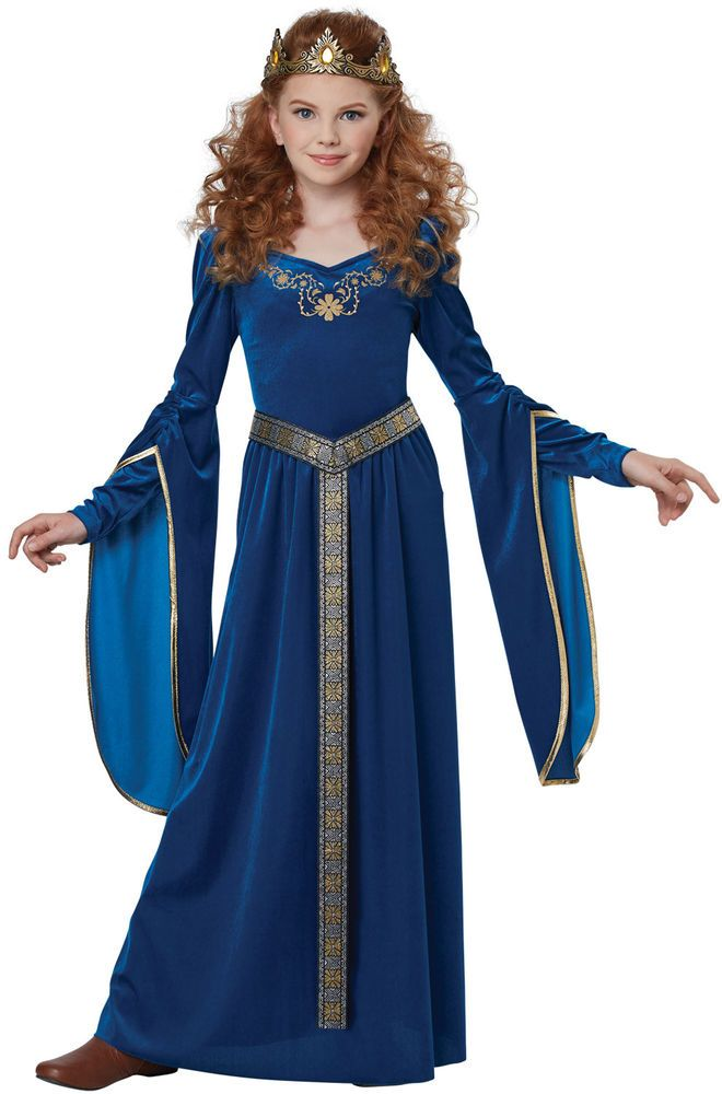 Renaissance Medieval Princess Child Costume