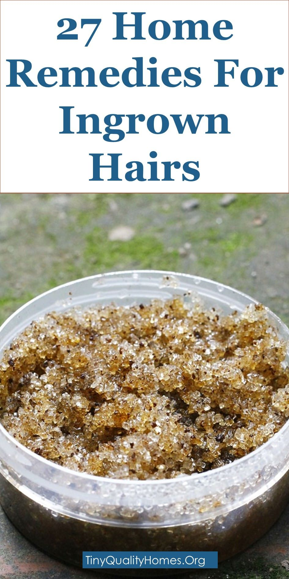 Effective Home Remedies For Ingrown Hairs  Ingrown hair remedy