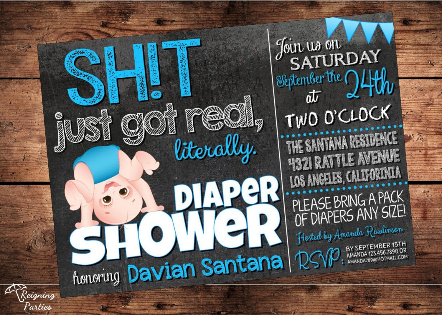 The original sht just got real funny baby shower invitation coed the original sht just got real funny baby shower invitation coed shower digital mature filmwisefo