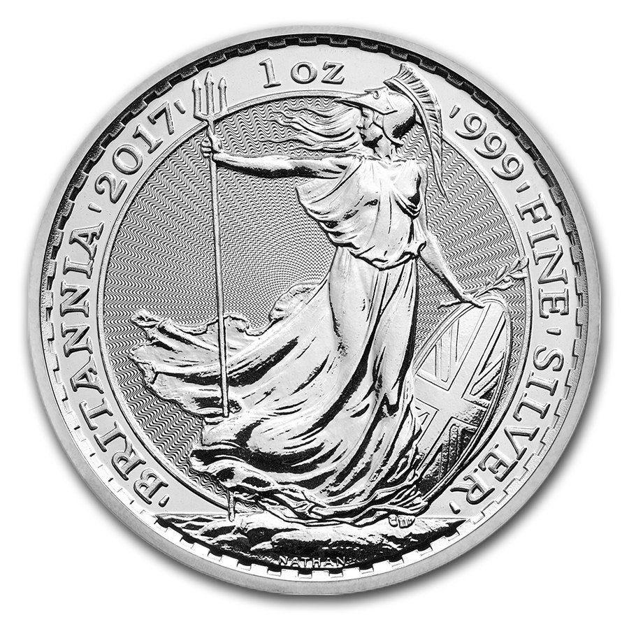 2017 Uk Great Britain Silver Britannia 1oz Bullion Coin Silver Bullion Bullion Coins Silver Coins