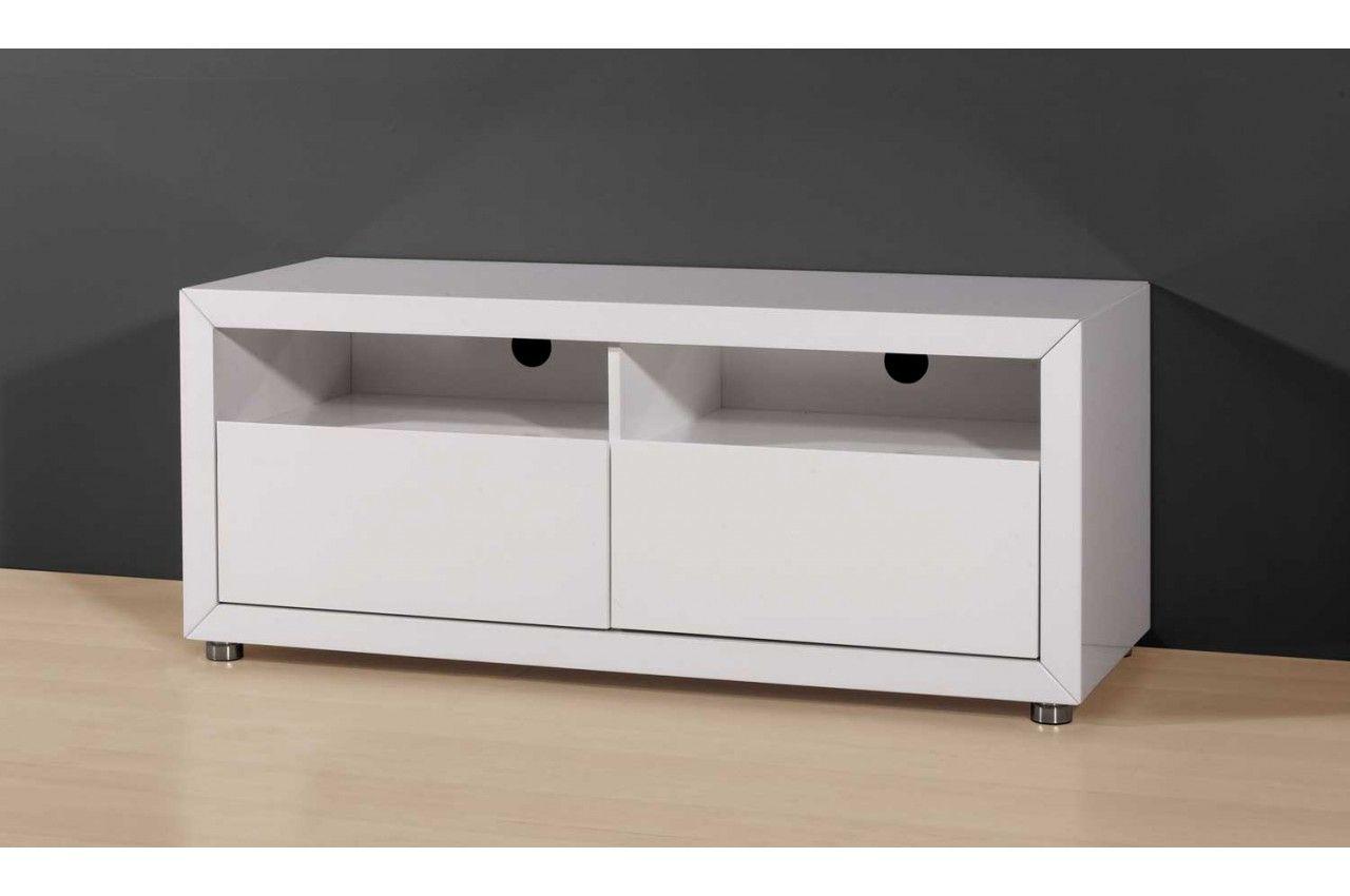 impressionnant meuble tv 120 cm blanc
