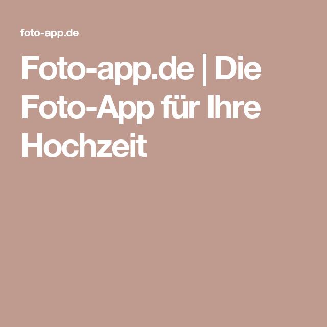 Foto-app.de | Die Foto-App für Ihre Hochzeit