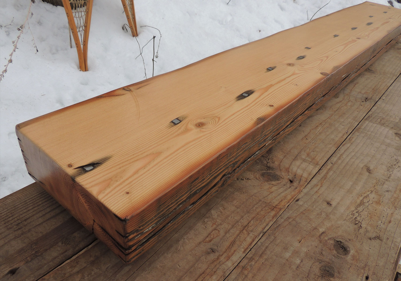 Mantel Shelf Floating Shelf 6x4 Solid Wood Beam Rustic Reclaimed Mantle SALE