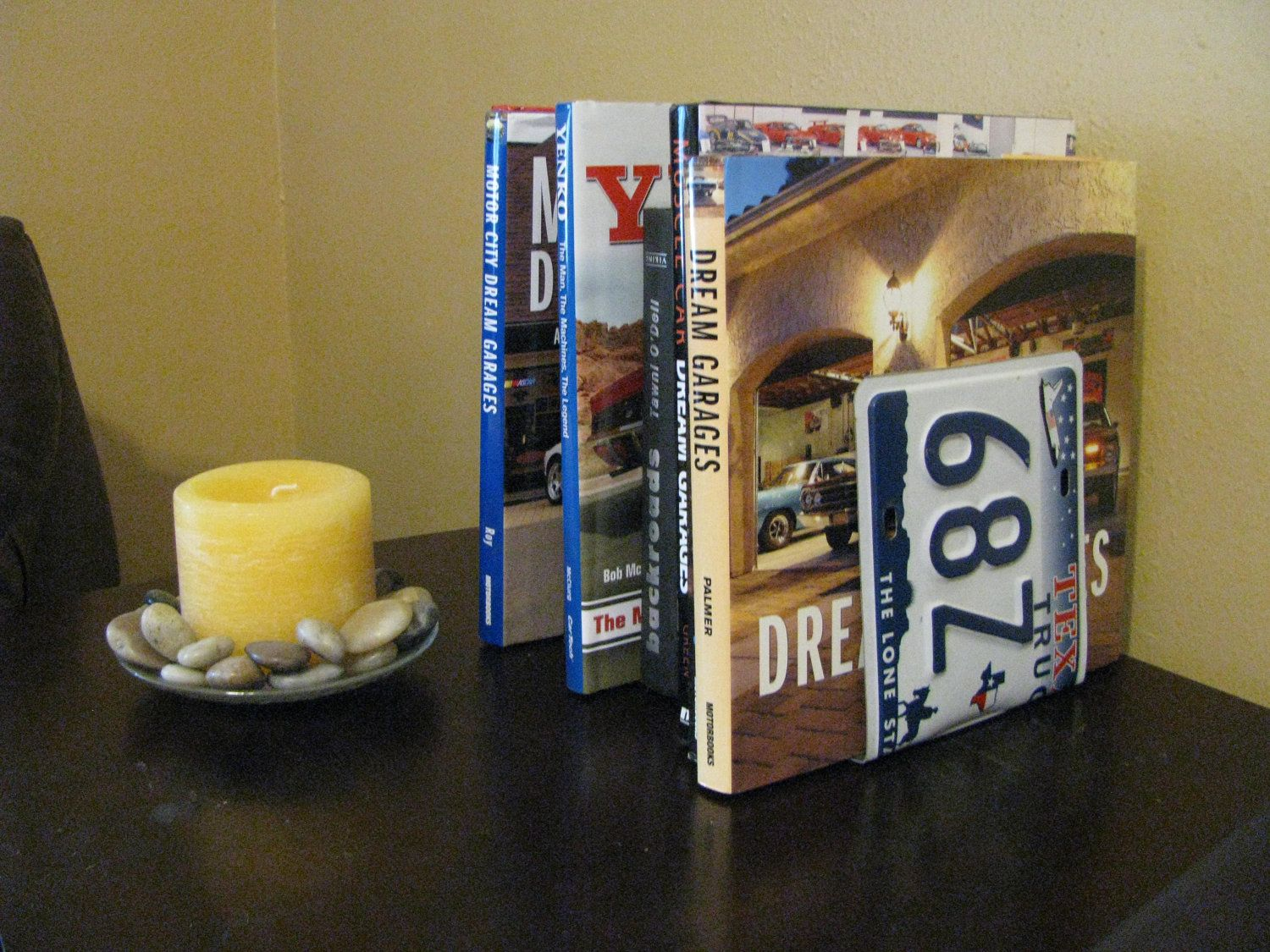 TEXAS LICENSE PLATE Bookends- Perfect for an Office