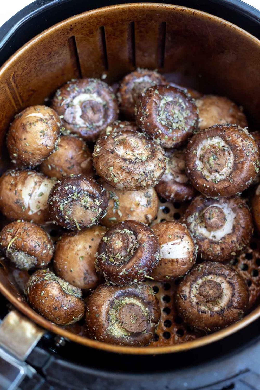 This Air Fryer Parmesan Mushrooms Recipe is a super quick