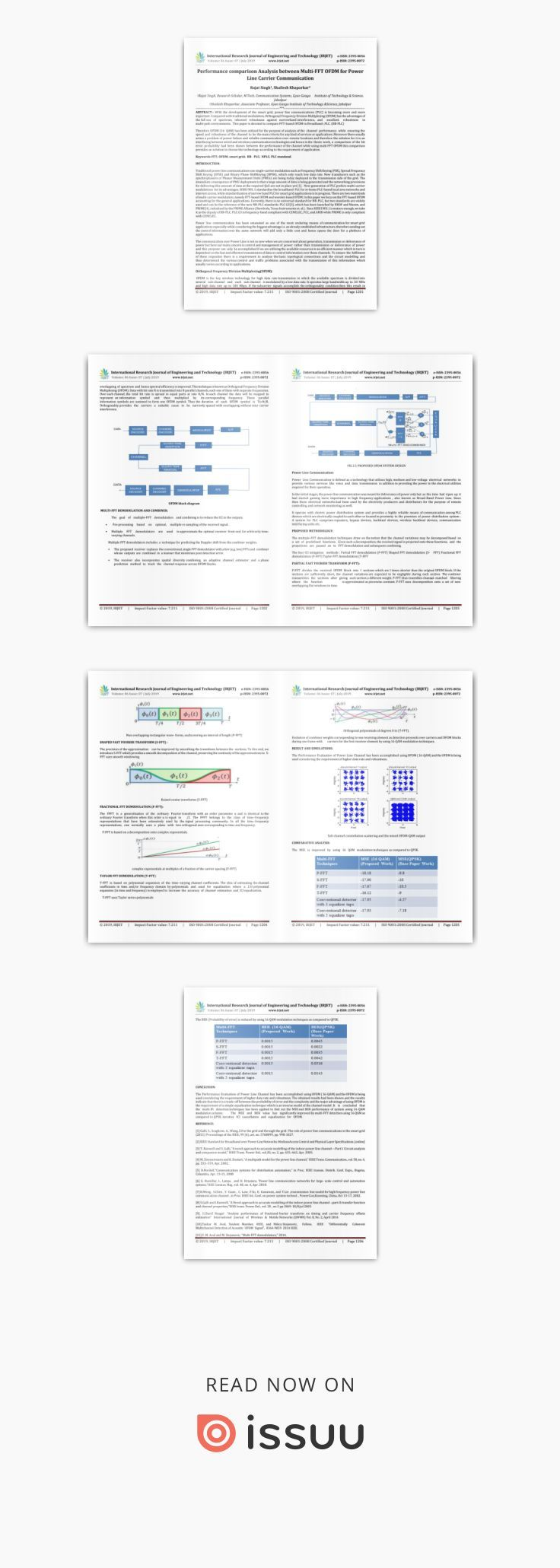 IRJET Performance Comparison Analysis between MultiFFT