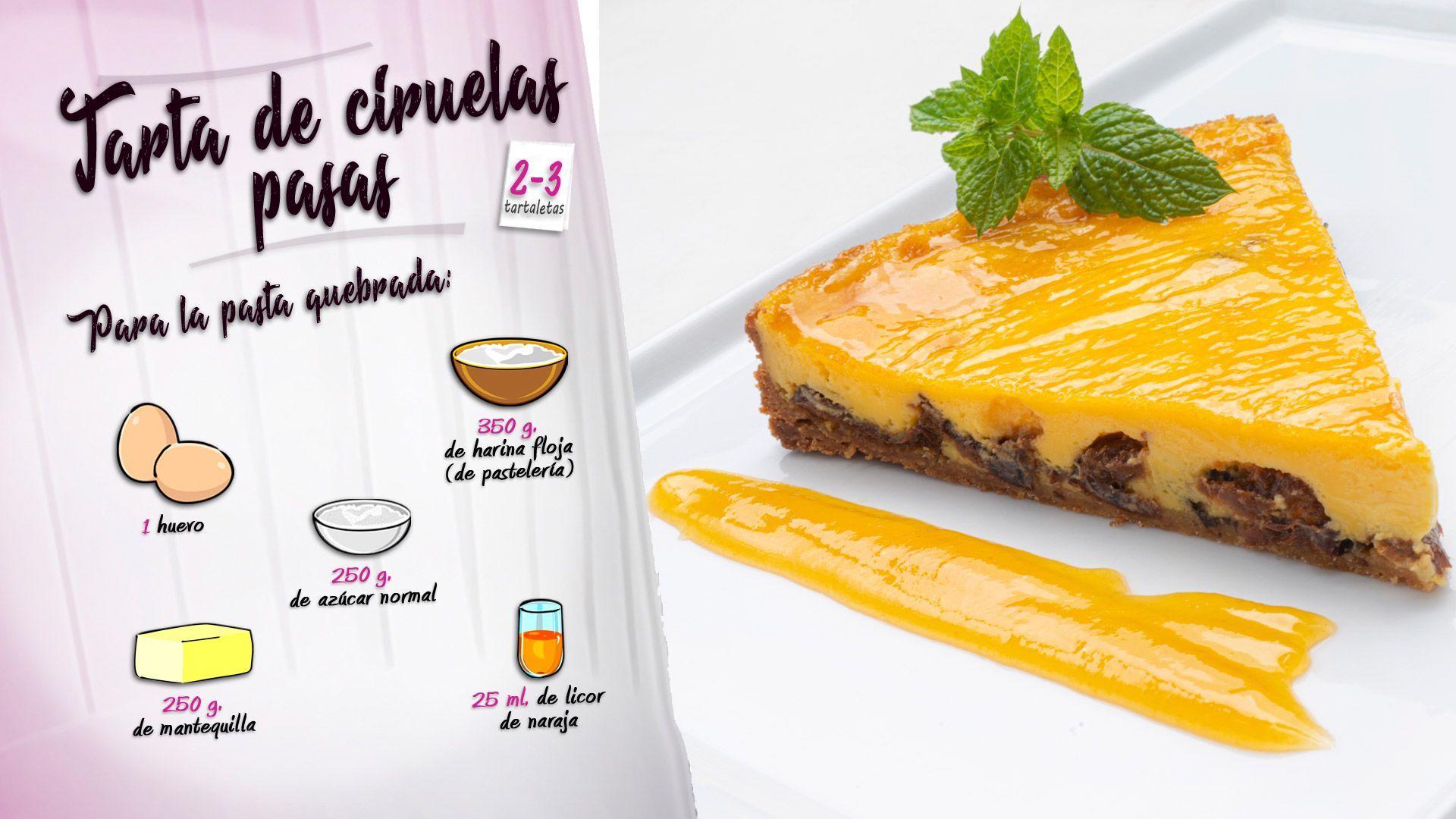 Tarta De Ciruelas Pasas Postre De Eva Arguiñano En Cocina Abierta Hogarmania Tarta De Ciruela Ciruela Pasa Tartas