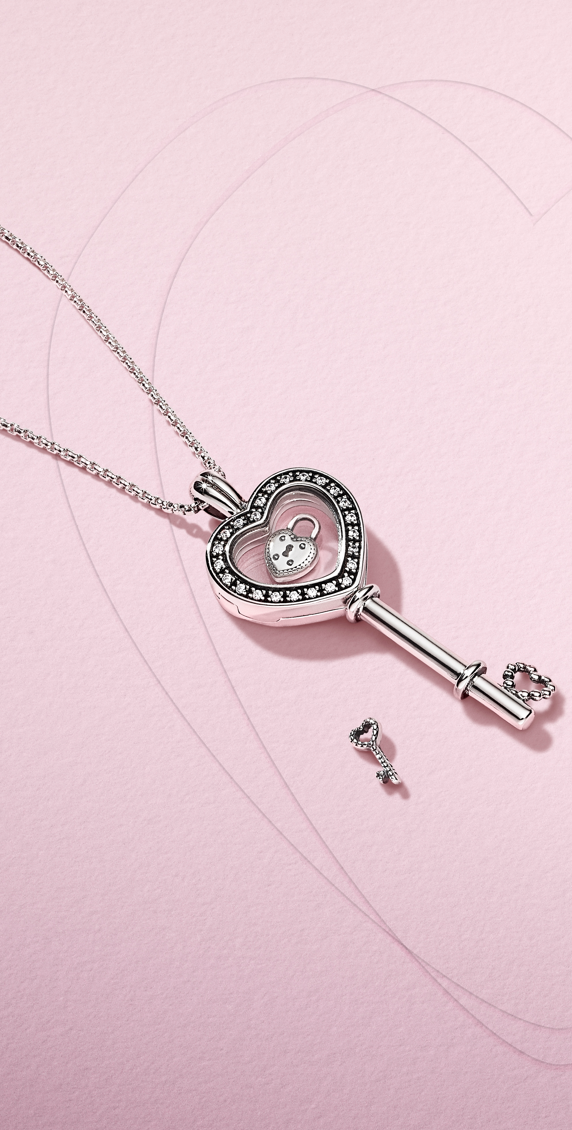 1de004653 ... and open your heart with our new Valentine's Day collection, now  available in stores and online. This new, sparkling floating locket in sterling  silver ...