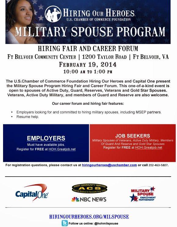 Milspouse Hiring Fair Career Forum Ft Belvoir Va Veteran