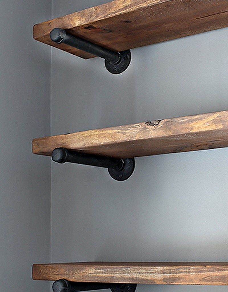 Estanterias rustico industrial decoracion pinterest for Estanterias rusticas de madera