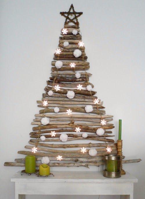 arbol navidad casero deco playa Pinterest Navidad Christmas