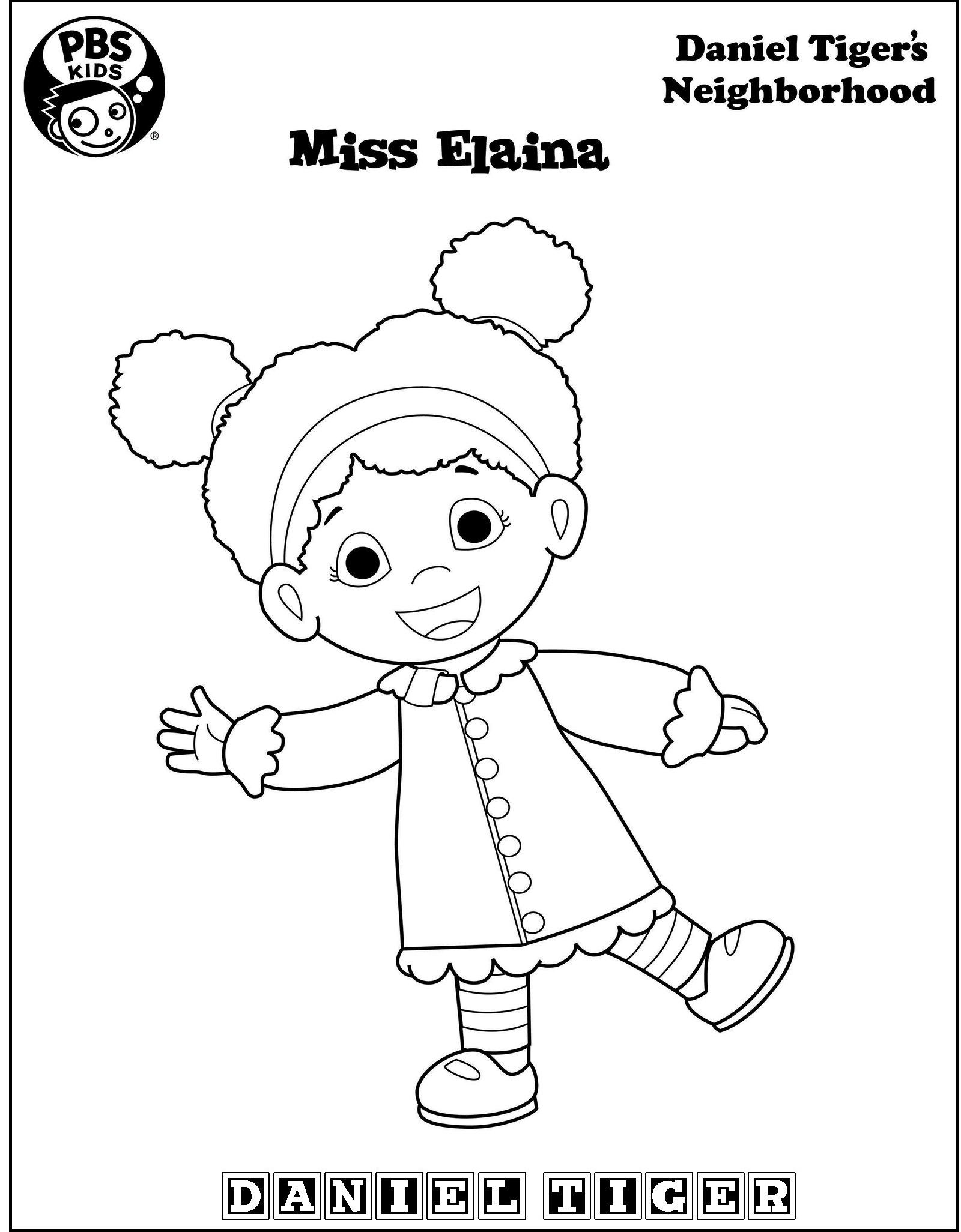 Miss Elaina From Daniel Tiger Coloring Page Daniel Tiger Birthday Party Daniel Tiger Birthday Tiger Birthday Party
