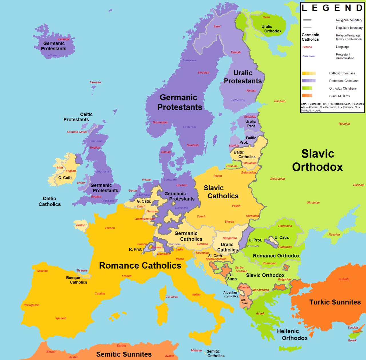 Europa Religiones E Idiomas