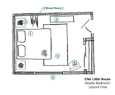 Chic Little House: Master Bedroom: Layout Ideas