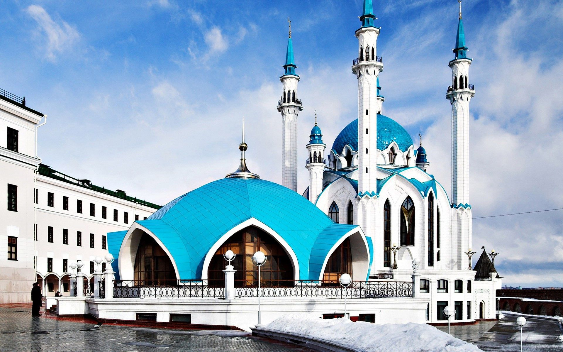 full hd animated mosque beautiful desktop wallpaper download free