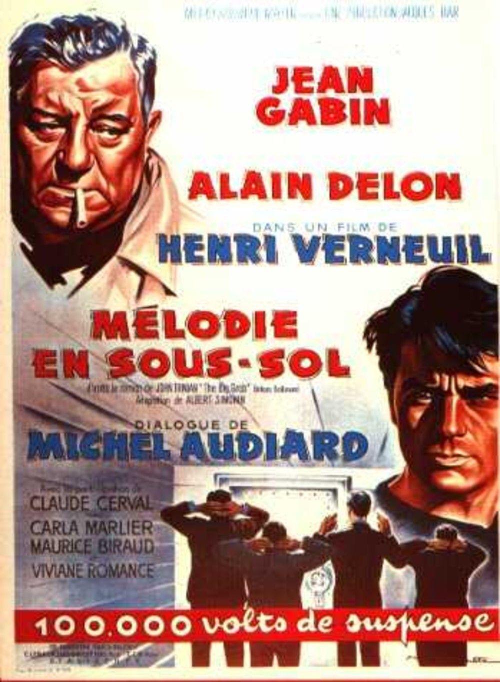 Melodie En Sous Sol 1963 Henri Verneuil Dir Melodie En Sous Sol Film Culte Francais Film