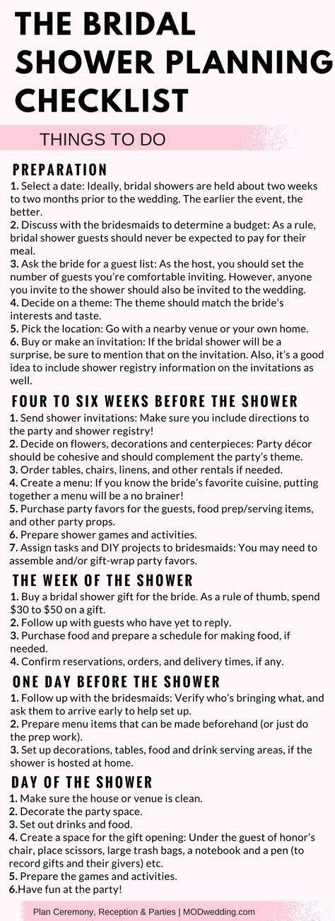 The Bridal Shower Planning Checklist – MODwedding