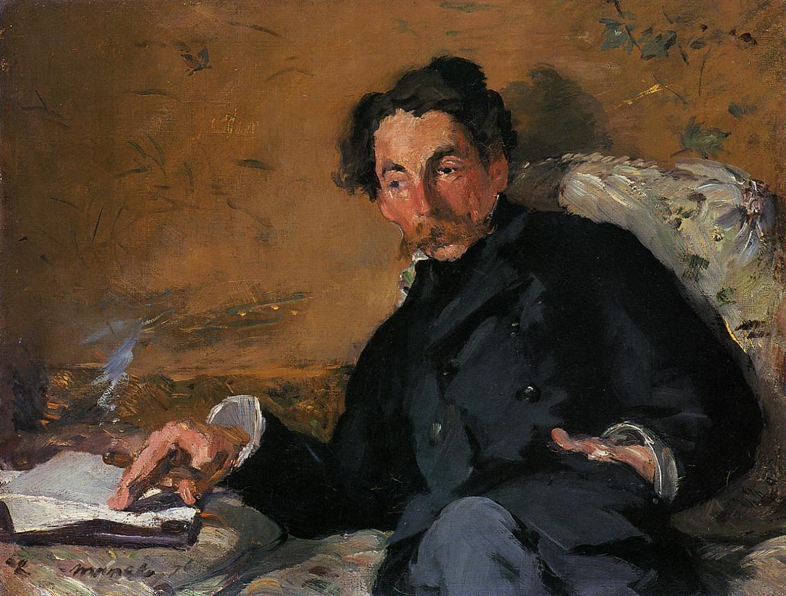 Édouard Manet, Portrait of Stéphane Mallarmé, 1876.