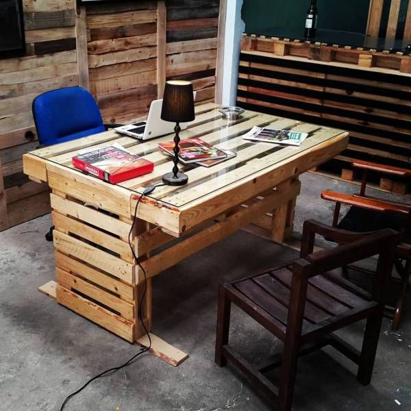 DIY Pallet Office Desk Ideas