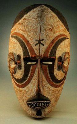 """ukpuru: """" Igbo mask, H. 25.4 cm (10""""). Detroit Institute of Arts, Bequest of…"""