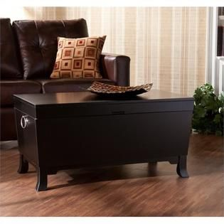 Pemberly Row Cocktail Table Trunk in Black Finish 205