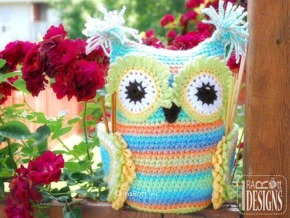 Hooty the Owl Buddy Hooks and Needles Organizer PDF Crochet Pattern  preview photo 2