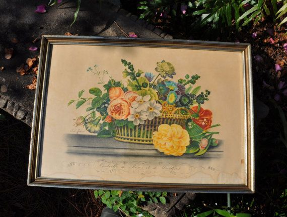 Antique Prévost French Aquatint Etching Large 20 x by FabsAndFaves
