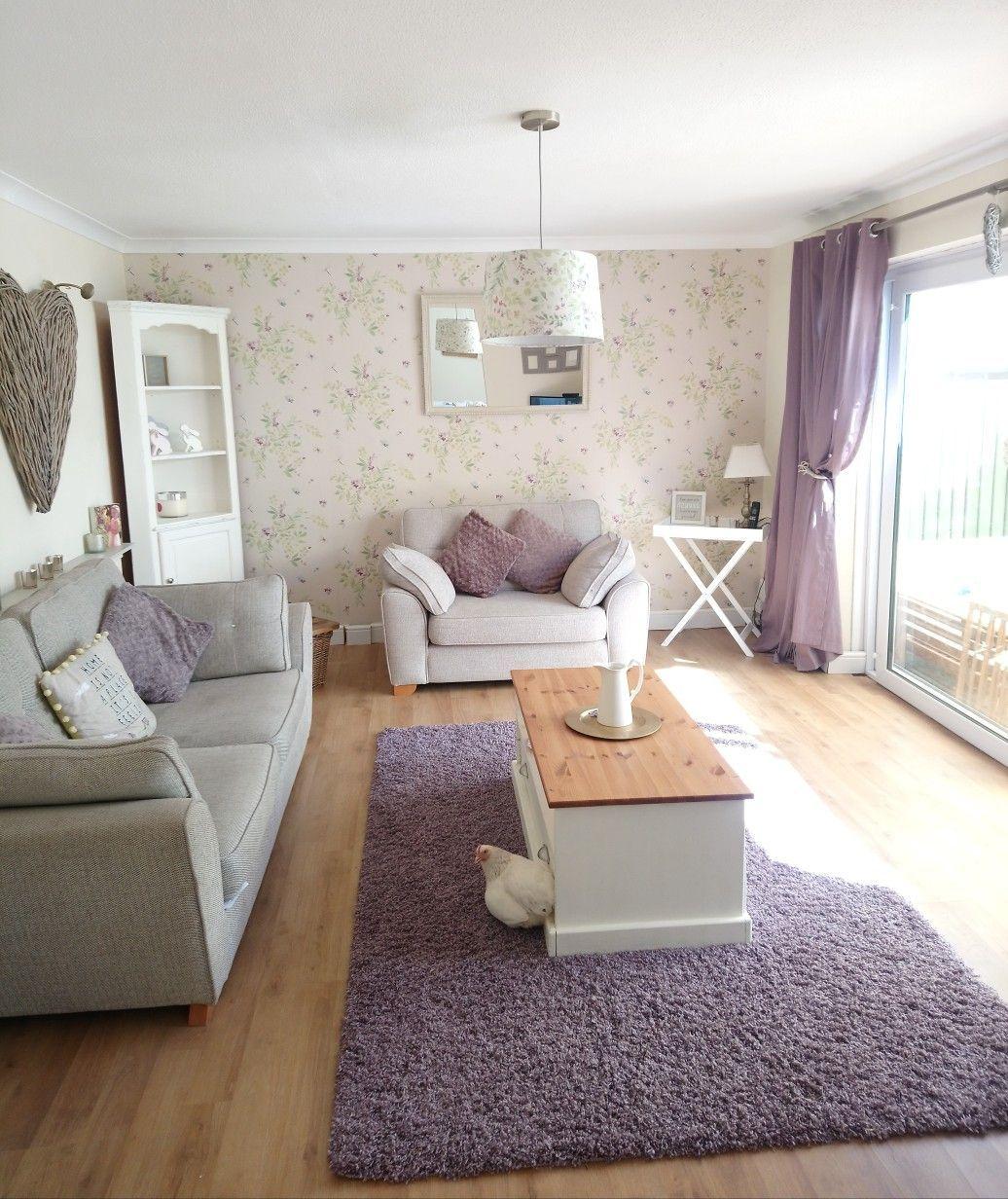 Dunelm secret garden wallpaper, dunelm living room, garden room