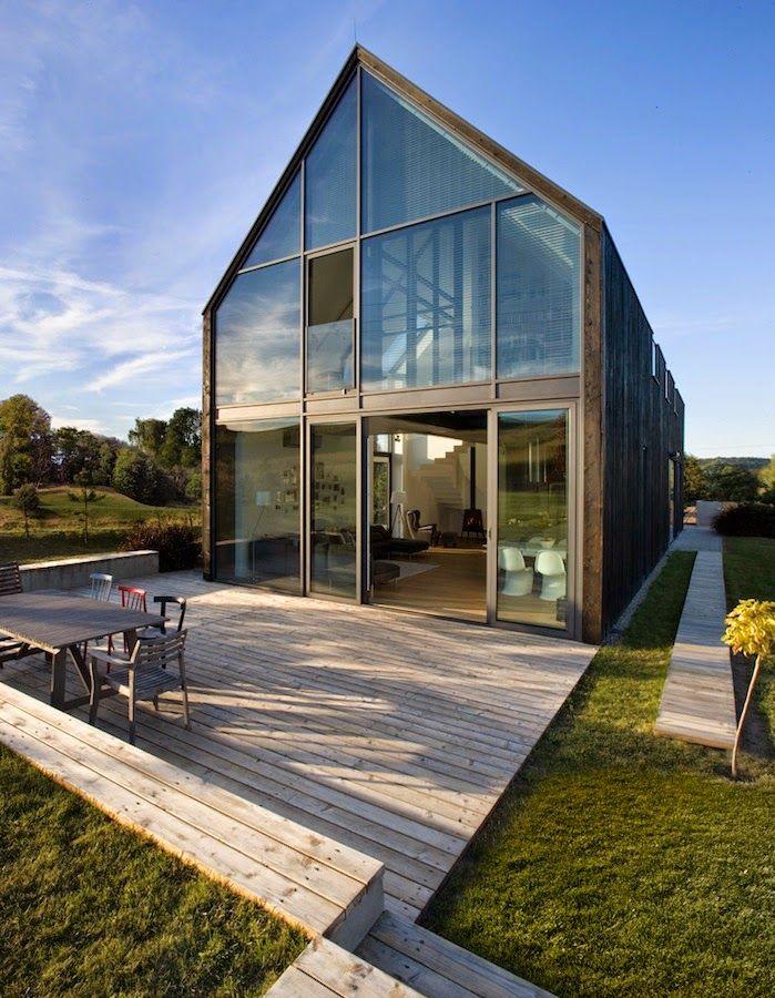 Fotobloo g adny dom satteldach modern pinterest - Moderne architektur satteldach ...