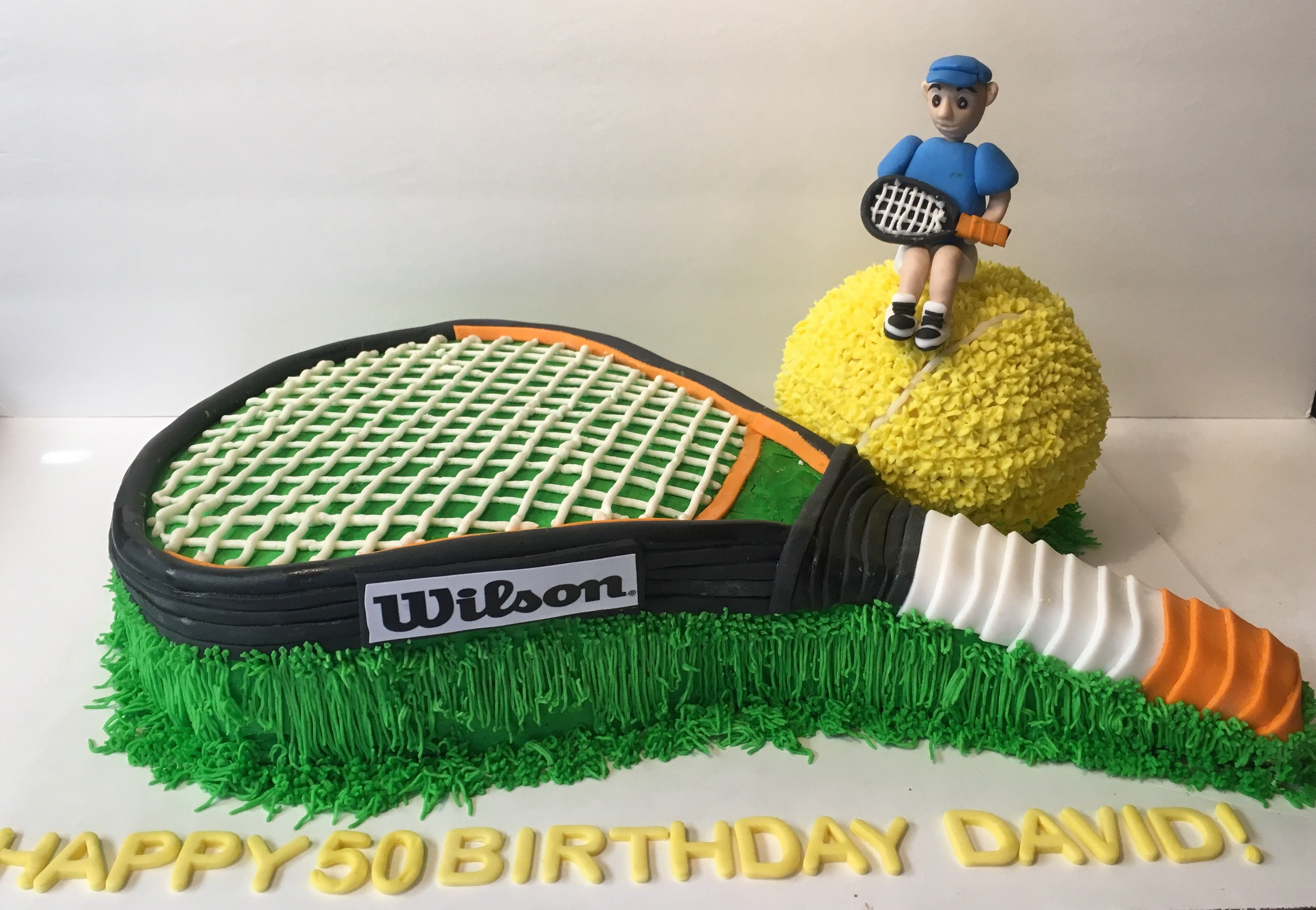 Tennis 50th Birthday Theme Cake 50th Birthday Themes 50th Birthday Themed Cakes