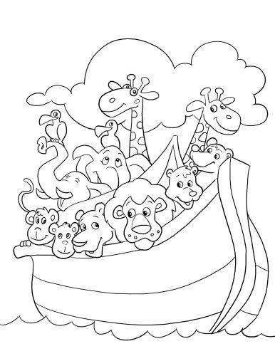 Noah\'s Ark Coloring Page | Sunday School Ideas | Pinterest ...