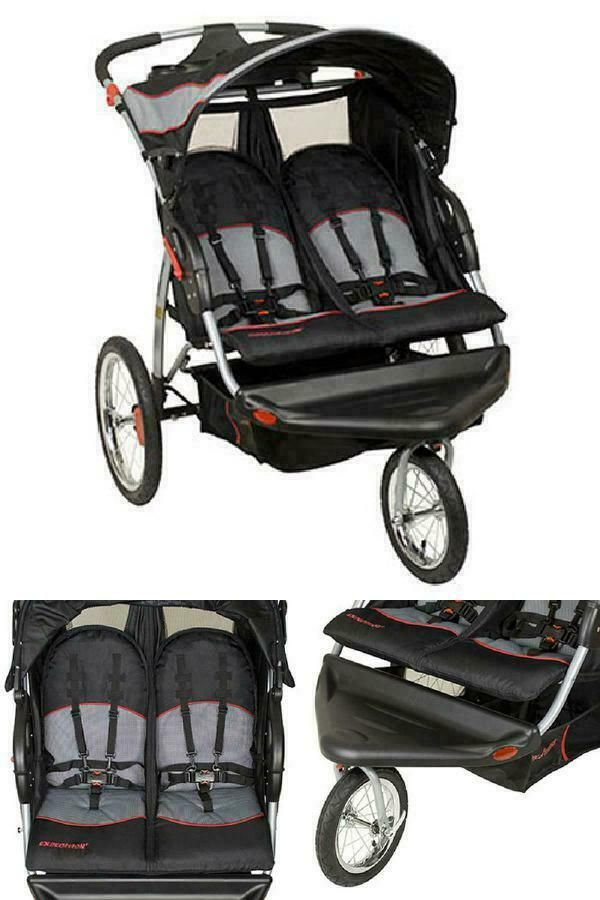 Baby Jogging Stroller Expedition Swivel Double Jogger ...