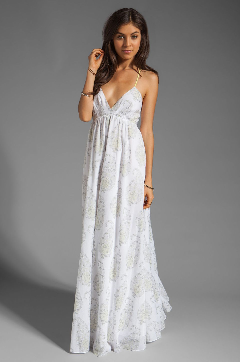 Rebecca taylor georgette maxi dress