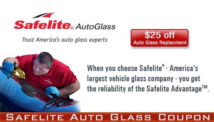 Details: Get $20 off windshield replacements with Safelite AutoGlass. Best suited for windshield damage larger than 6 inches or if the windshield damage is in your line of sight.