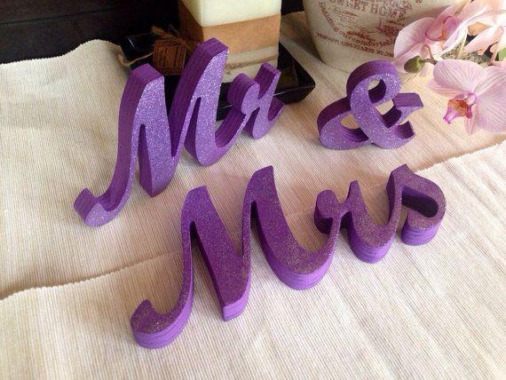 Mr & Mrs Wedding Centerpiece Decoration Mrs Mrs set Mr
