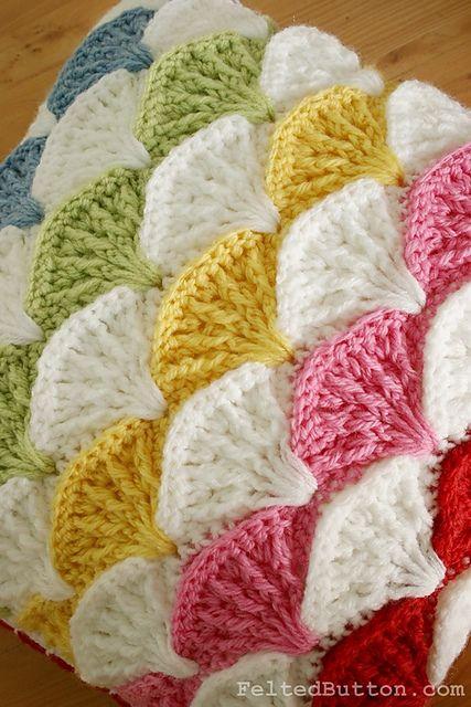 Paintbrush Pillow & Afghan pattern by Susan Carlson | Manta, Tejido ...