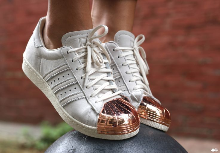 new adidas originals superstar #80s rose gold metal toe cap